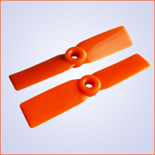 3.5x4.5 inch Plastik Propeller CW+CCW - orange - 5mm Loch