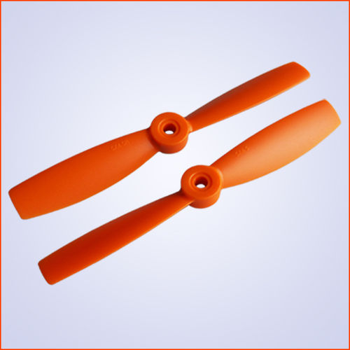 5.0x4.5 inch Plastik Propeller CW+CCW - orange - 5mm Loch