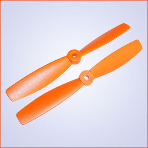 6.0x4.5 inch Plastik Propeller CW+CCW - orange - 5mm Loch