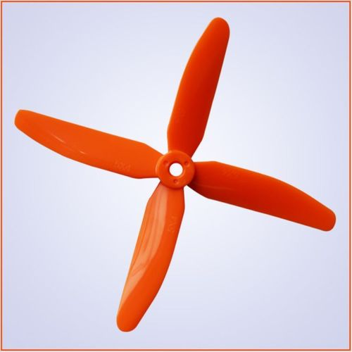 5.0x4.0 inch 4-Blade Plastik Propeller CW+CCW - orange - 5mm Loch
